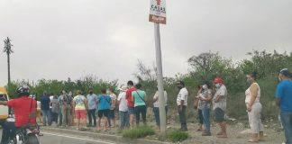 Fila kilométrica para vacunación en García