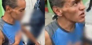 ¡Sin miedo a nada! hombre en CDMX caminaba por las calles con un cuchillo en el pecho